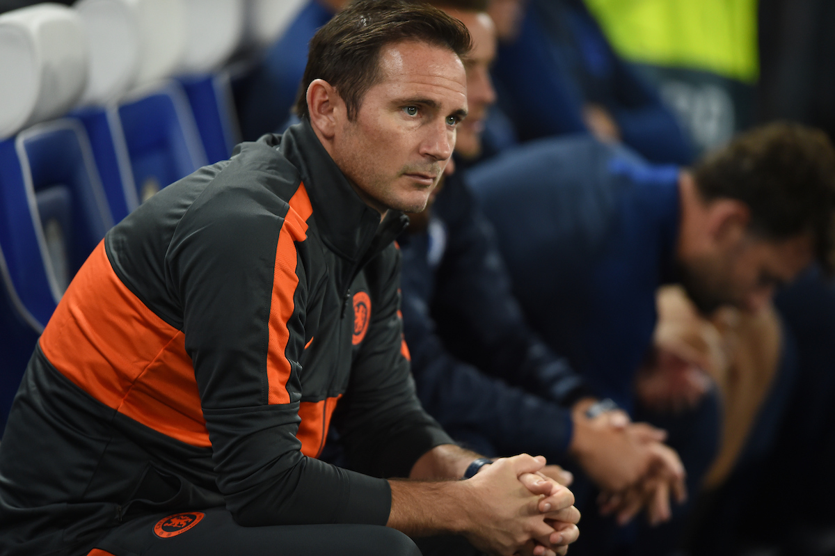 Chelsea manager Frank Lampard during the UEFA Champions League match at Stamford Bridge, London Picture by Daniel Hambury/Focus Images Ltd 07813022858 17/09/2019