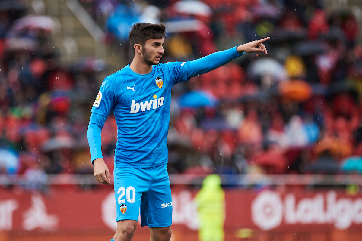 Ferrán Torres of Valencia CF during the La Liga match at Iberostar Stadium, Palma Picture by Cristian Trujillo/Focus Images Ltd +34 64958 5571 19/01/2020