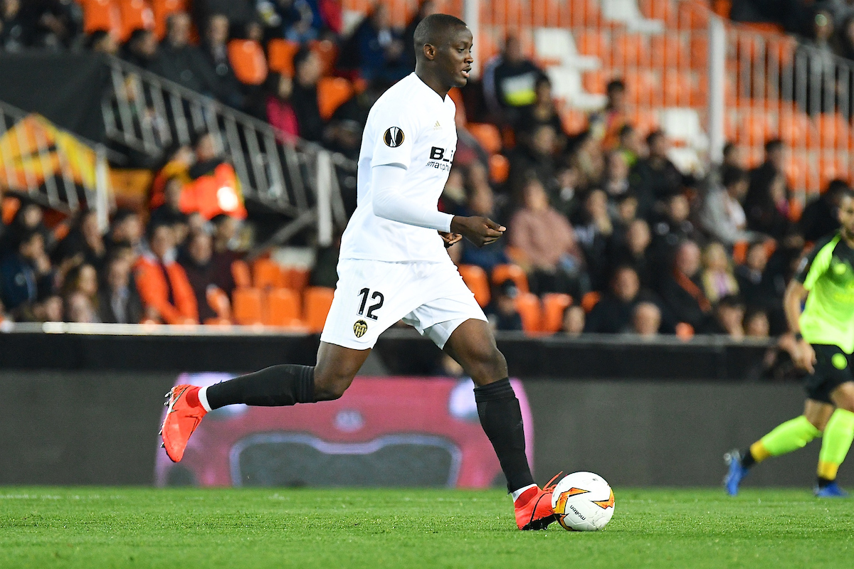 Mouctar Diakhaby of Valencia CF during the UEFA Europa League match at Mestalla, Valencia Picture by Kristian Kane/Focus Images Ltd +44 7814 482222 19/02/2019
