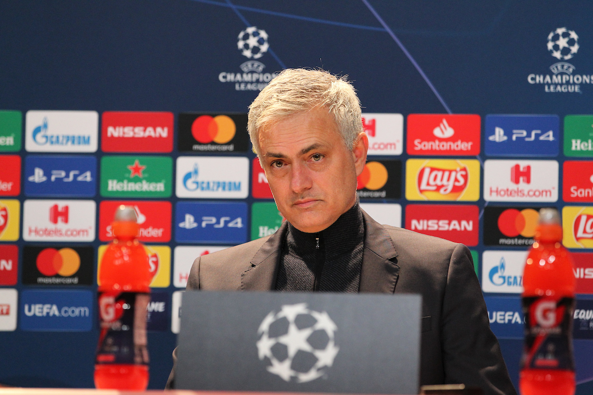 Jose Mourinho Manager of Tottenham Hotspur at the press conference at the end of the UEFA Champions League match at Allianz Arena, Munich Picture by Yannis Halas/Focus Images Ltd +353 8725 82019 11/12/2019