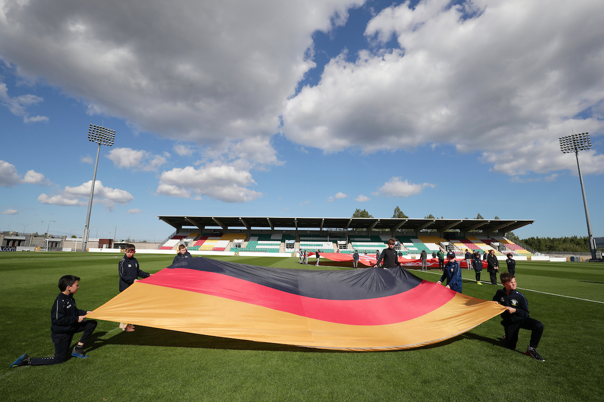 A general view of Tallaght stadium and the German flag ahead of the UEFA Euro U17 Championship match at Tallaght Stadium, Tallaght Picture by Yannis Halas/Focus Images Ltd +353 8725 82019 04/05/2019