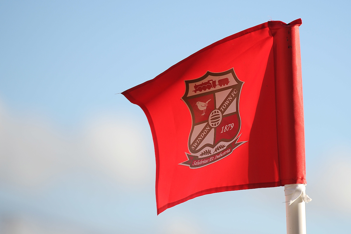 A general shot of the Swindon Town corner flag during the Sky Bet League 1 match between Swindon Town and Colchester United at the County Ground, Swindon Picture by Richard Blaxall/Focus Images Ltd +44 7853 364624 25/10/2014