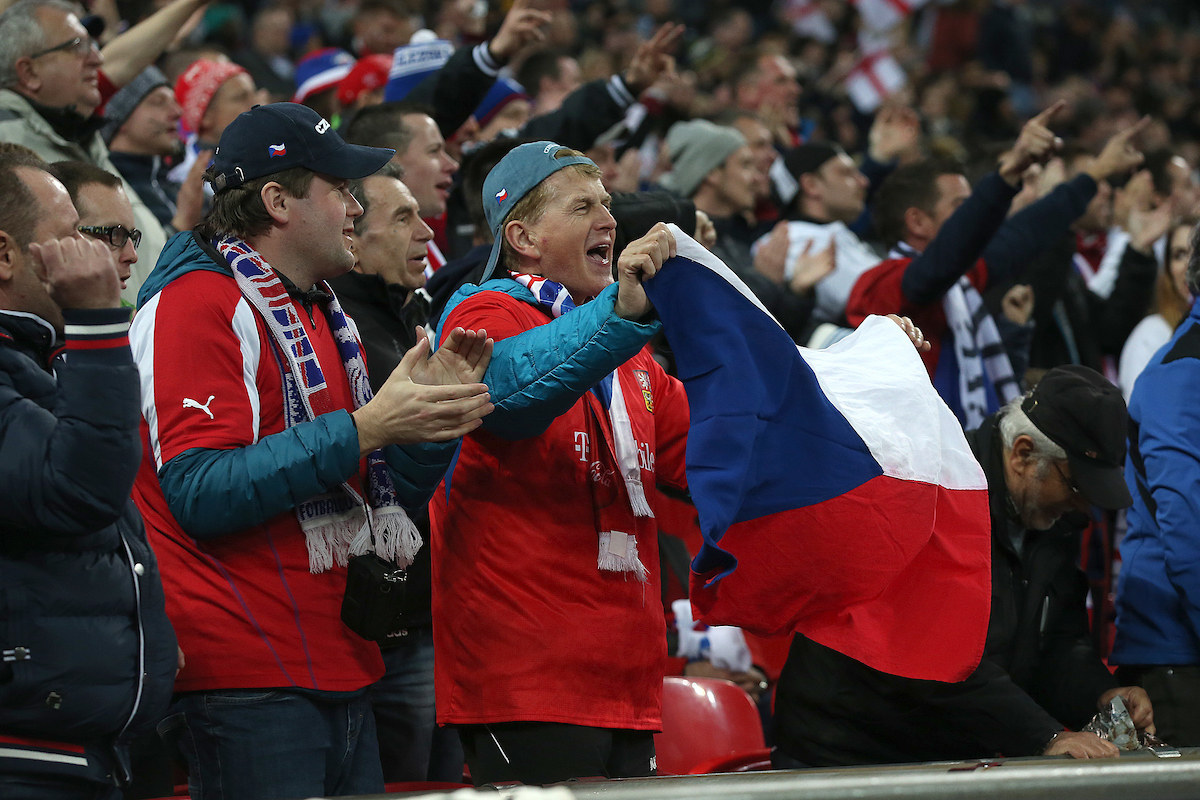 The Czech fans during the UEFA Euro 2020  Qualifiers match at Wembley Stadium, London Picture by Paul Chesterton/Focus Images Ltd +44 7904 640267 22/03/2019
