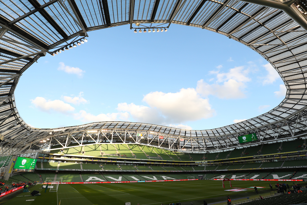 A general view of the Aviva Stadium ahead of the UEFA Euro 2020  Qualifiers match at the Aviva Stadium, Dublin Picture by Yannis Halas/Focus Images Ltd +353 8725 82019 26/03/2019