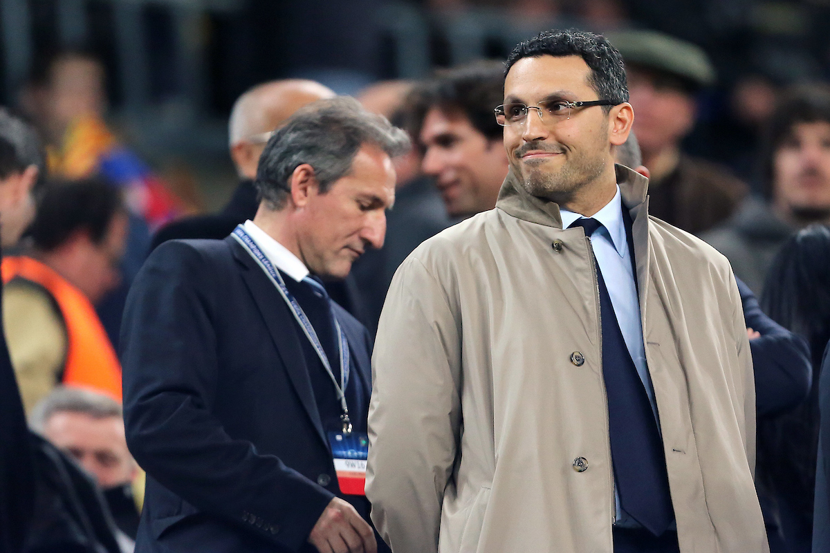 Chairman of Manchester City, Khaldoon Al Mubarak during the UEFA Champions League against FC Barcelona match at Camp Nou, Barcelona Picture by Richard Calver/Focus Images Ltd +447792 981244 12/03/2014