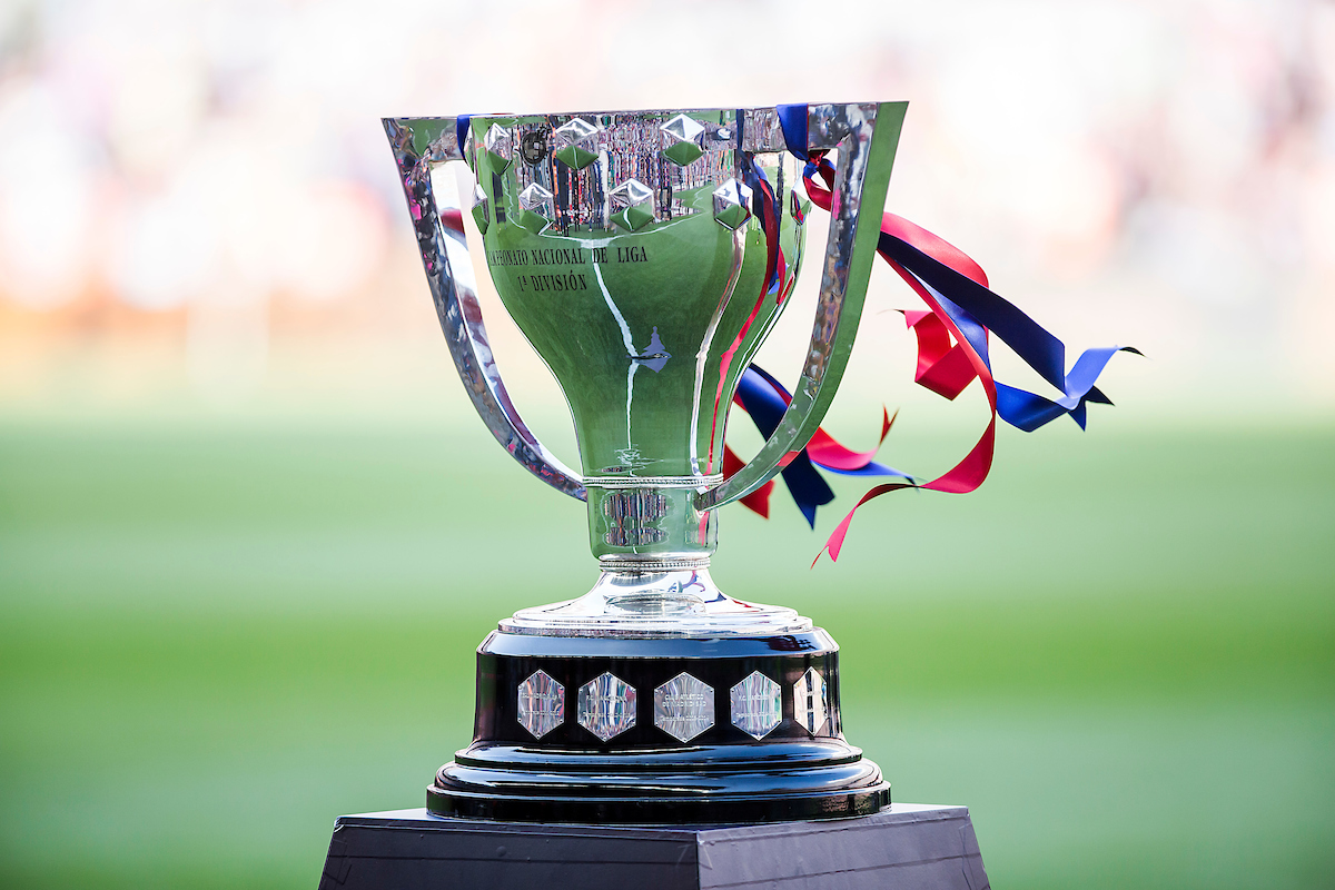 La Liga 2015-2016 Trophy is seen before the first new season La Liga match between FC Barcelona and Real Beatis at Camp Nou, Barcelona Picture by Luis Tato/Focus Images Ltd (+34) 661 459 33 20/08/2016