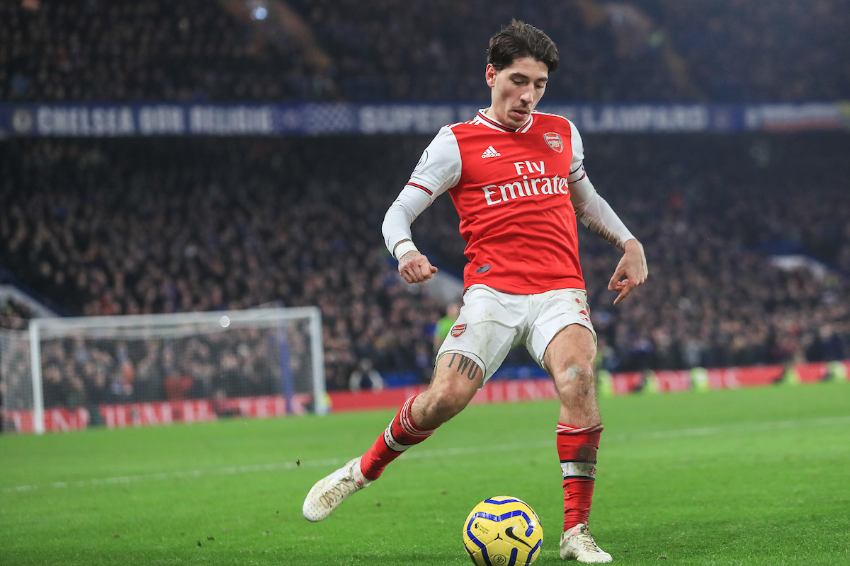 Hector Bellerin of Arsenal during the Premier League match at Stamford Bridge, London Picture by Romena Fogliati/Focus Images Ltd 07576143919 21/01/2020