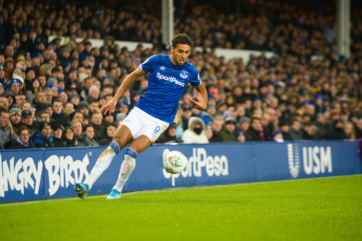 Dominic Calvert-Lewin of Everton during the Carabao Cup match at Goodison Park, Liverpool Picture by Matt Wilkinson/Focus Images Ltd 07814 960751 18/12/2019