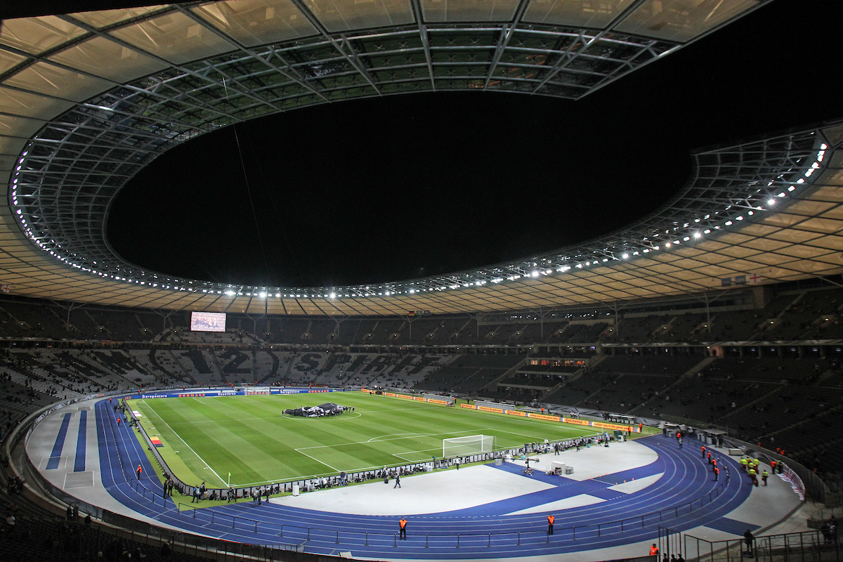 General views of the stadium before the International Friendly match at Olympiastadion Berlin, Charlottenburg-Wilmersdo Picture by Paul Chesterton/Focus Images Ltd +44 7904 640267 26/03/2016
