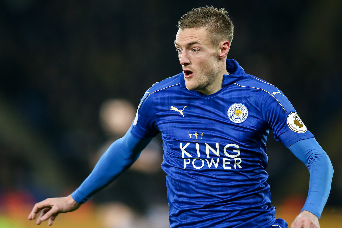 Jamie Vardy of Leicester City during the Premier League match at the King Power Stadium, Leicester Picture by Andy Kearns/Focus Images Ltd 0781 864 4264 27/02/2017