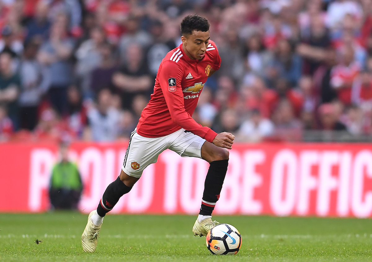 Jesse Lingard of Manchester United during the FA Cup Semi-Final match against Tottenham Hotspur at Wembley Stadium, London Picture by Andrew Timms/Focus Images Ltd +44 7917 236526 21/04/2018