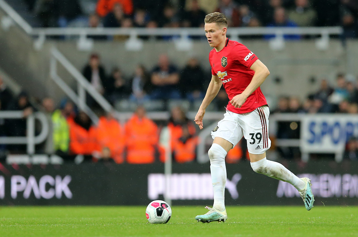 Scott McTominay of Manchester United during the Premier League match at St. James's Park, Newcastle Picture by Simon Moore/Focus Images Ltd 07807 671782 06/10/2019