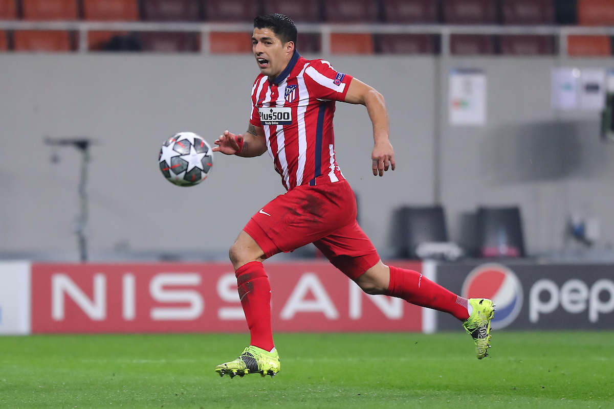 Luis Suarez of Atletico Madrid  during the UEFA Champions League match at Arena Nationala, Bucharest Picture by Focus Images/Focus Images Ltd 07814 482222 23/02/2021