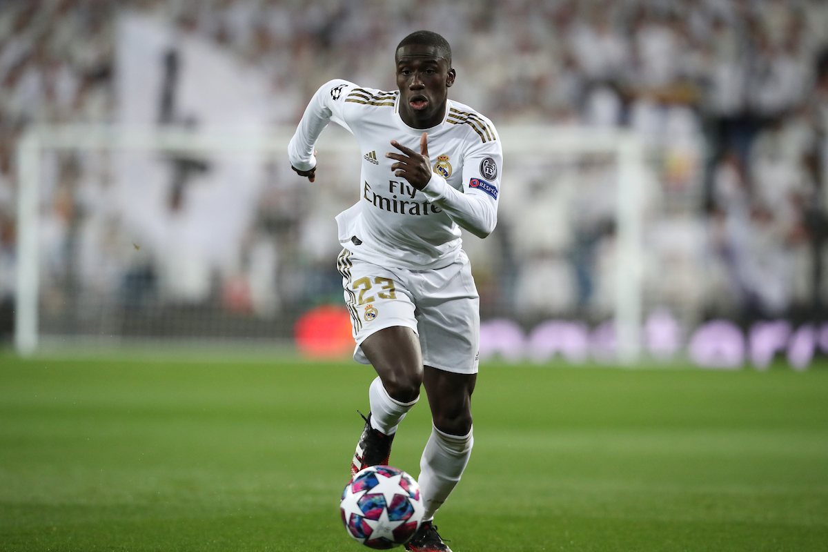 Ferland Mendy of Real Madrid during the UEFA Champions League match at the Estadio Santiago Bernabeu, Madrid Picture by Yannis Halas/Focus Images Ltd +353 8725 82019 26/02/2020