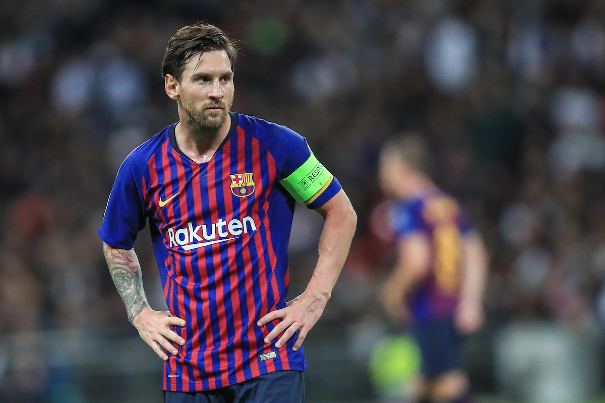 Lionel Messi of FC Barcelona during the UEFA Champions League match at Wembley Stadium, London Picture by Romena Fogliati/Focus Images Ltd 07576143919 03/10/2018