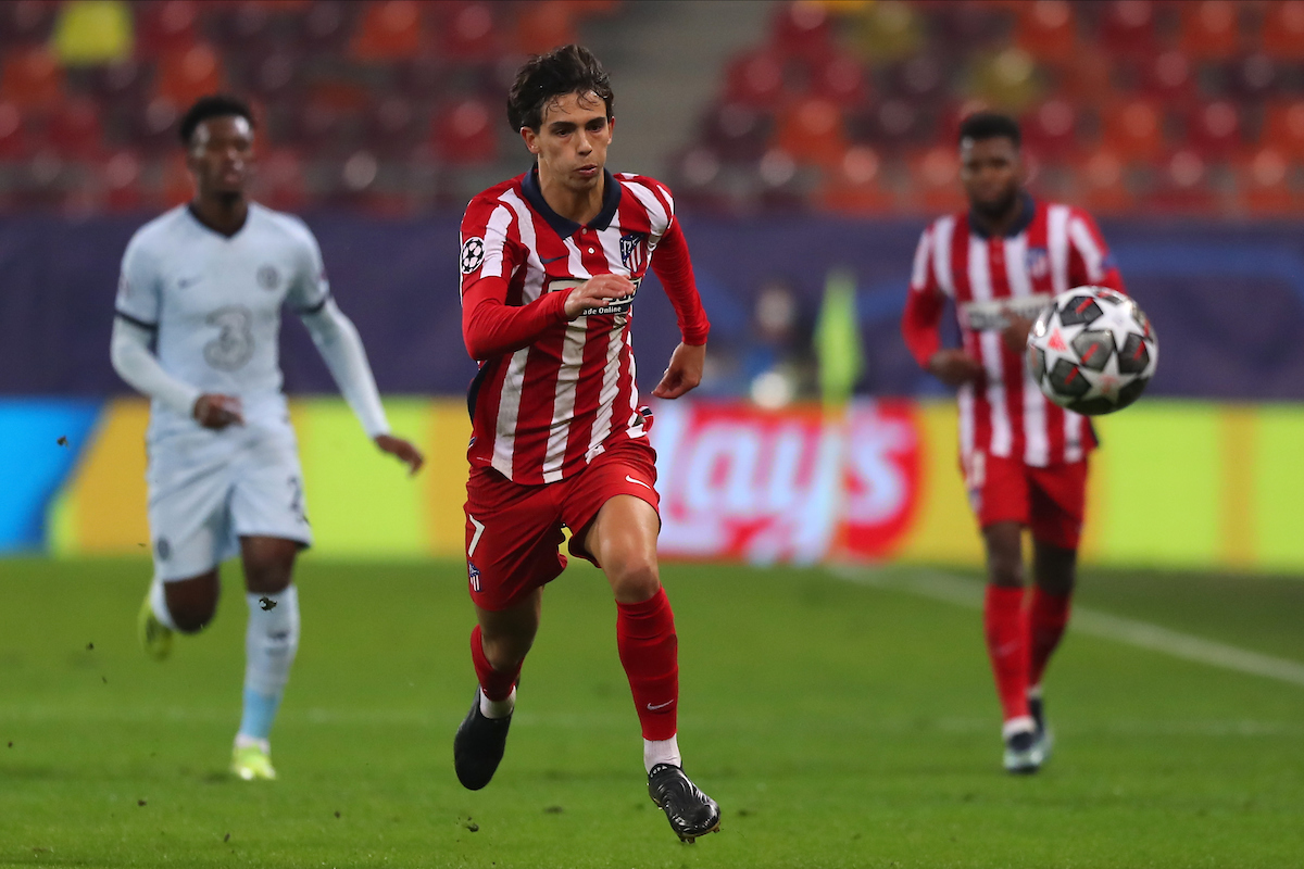 Joao Felix of Atletico Madrid during the UEFA Champions League match at Arena Nationala, Bucharest Picture by Focus Images/Focus Images Ltd 07814 482222 23/02/2021