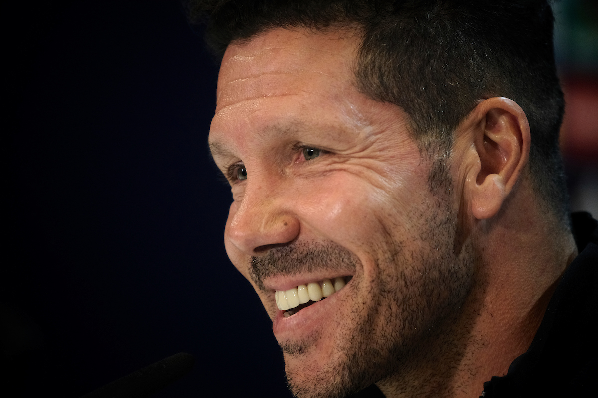 Atletico Madrid manager Diego Simeone during the Atletico press conference at Vicente Calderon Stadium, Madrid Picture by Kristian Kane/Focus Images Ltd +44 7814 482222 09/05/2017
