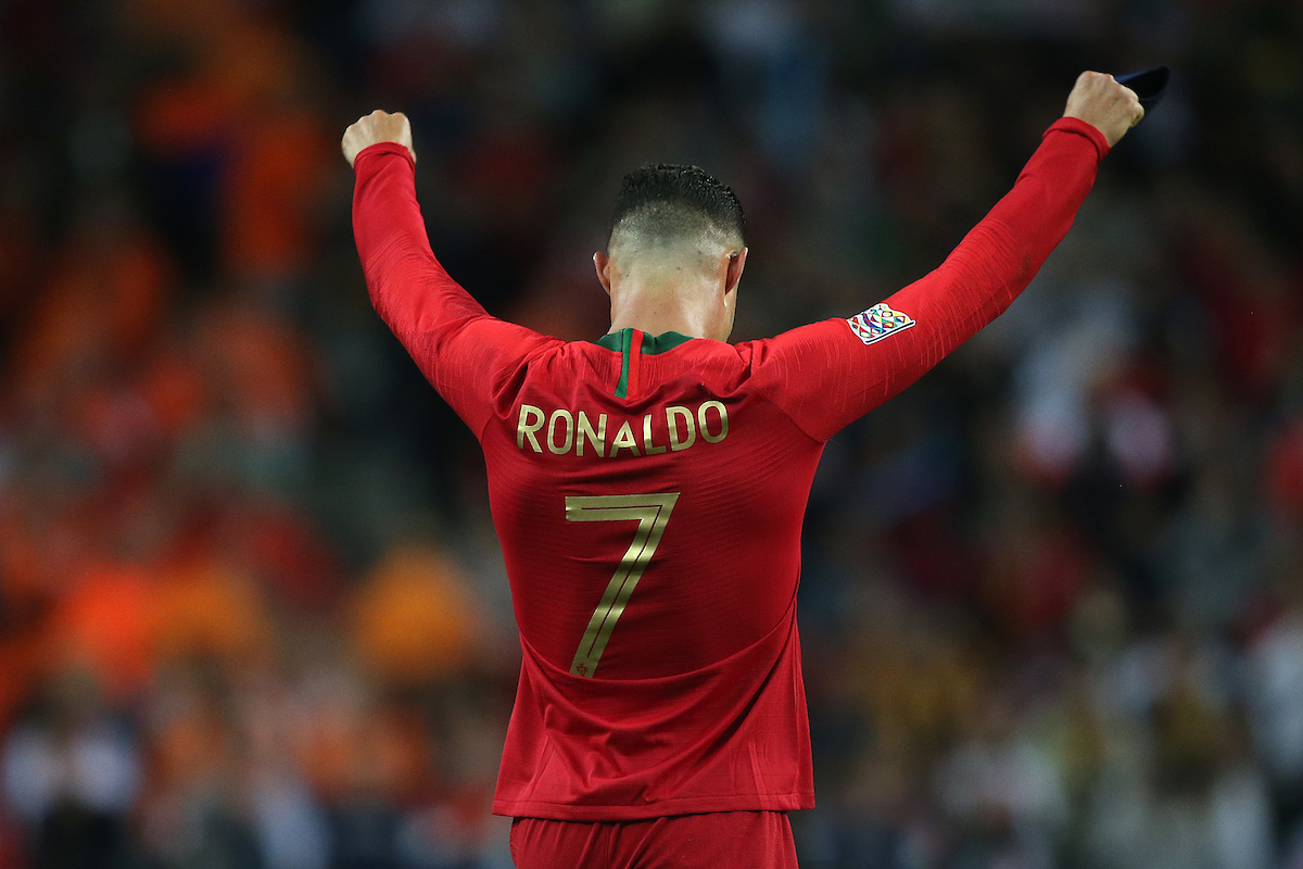Cristiano Ronaldo of Portugal celebrates victory at the end of the UEFA Nations League Final at Estadio D. Afonso Henrique, Guimaraes Picture by Paul Chesterton/Focus Images Ltd +44 7904 640267 09/06/2019