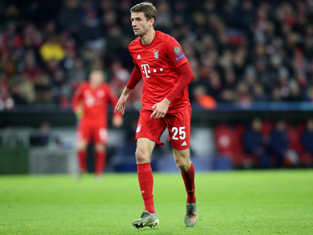 Thomas Muller of Bayern Munich during the UEFA Champions League match at Allianz Arena, Munich Picture by Yannis Halas/Focus Images Ltd +353 8725 82019 11/12/2019