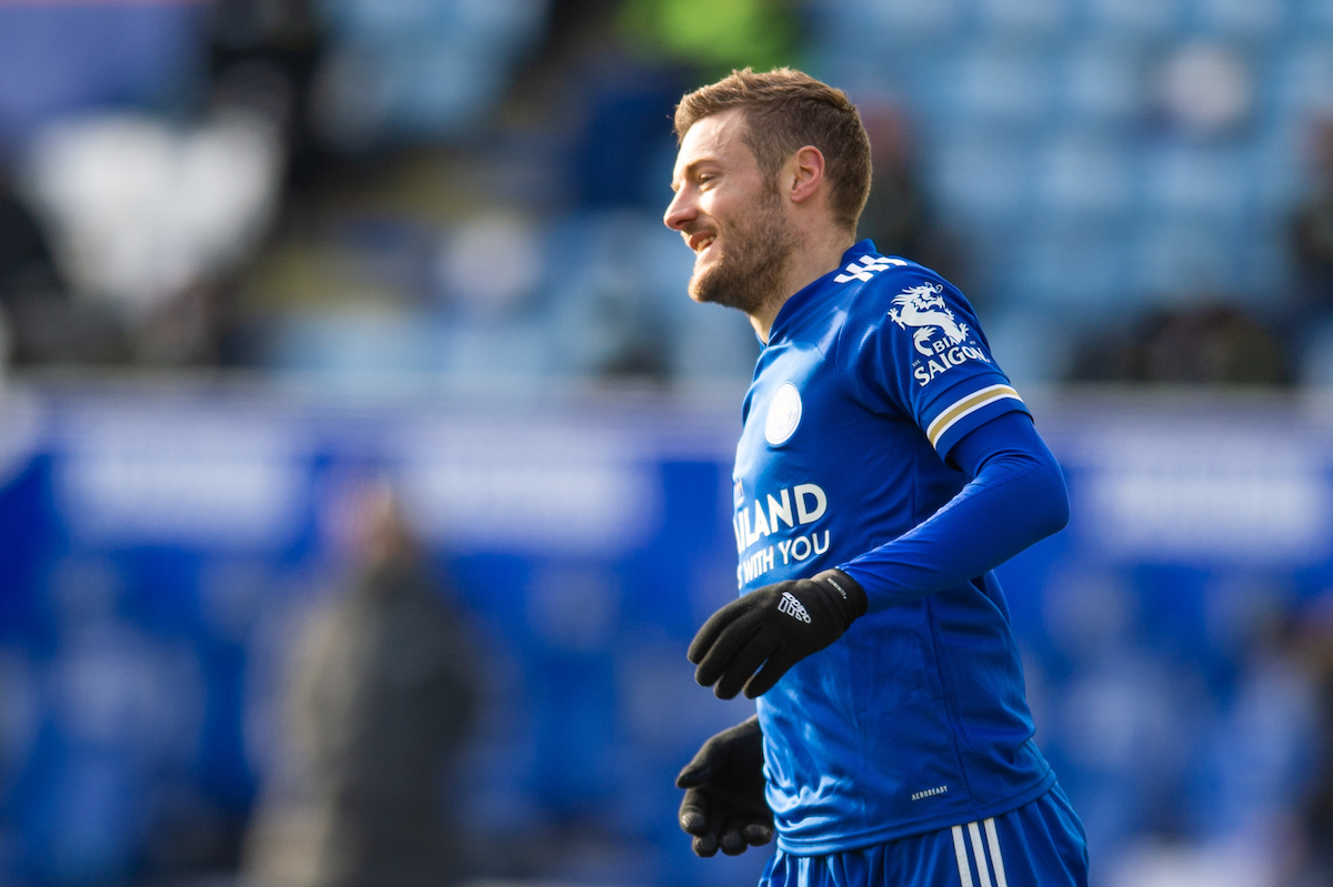 Jamie Vardy of Leicester City during the Premier League match at the King Power Stadium, Leicester Picture by Matt Wilkinson/Focus Images Ltd 07814 960751 13/02/2021