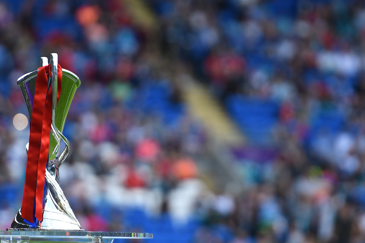 The trophy one display pictured ahead of the UEFA Women's Champions League Final at the Cardiff City Stadium, Cardiff Picture by Kristian Kane/Focus Images Ltd +44 7814 482222 01/06/2017