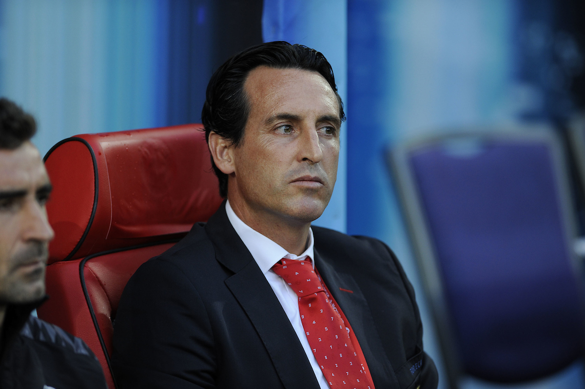 Unai Emery, head coach of Sevilla during the European Super Cup match at the Cardiff City Stadium, Cardiff Picture by Stefano Gnech/Focus Images Ltd +39 333 1641678 12/08/2014
