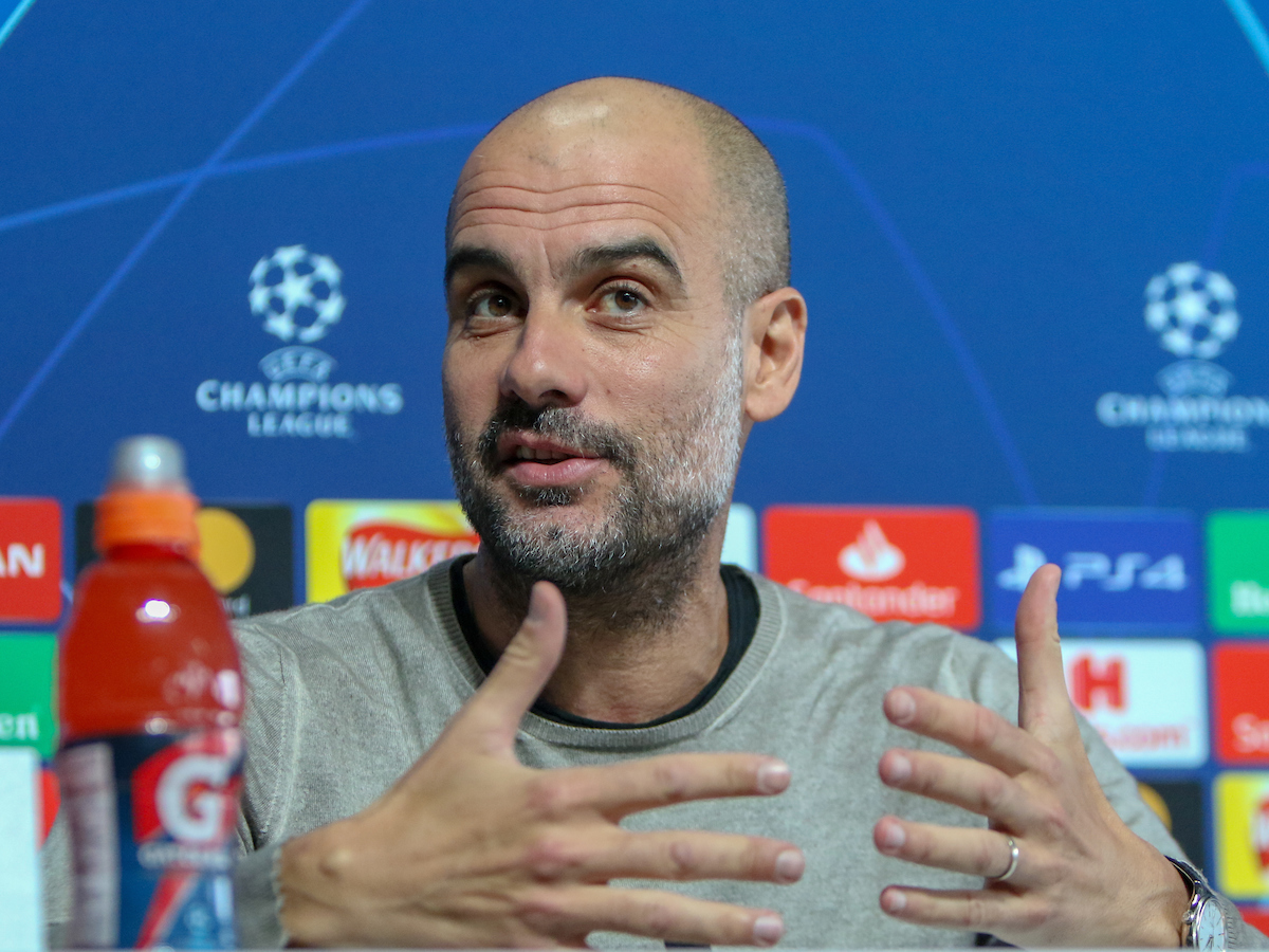 Pep Guardiola of Manchester City during a press conference at the Etihad Campus, Manchester Picture by Steve McCormick/Focus Images Ltd 07545 862647 16/04/2019