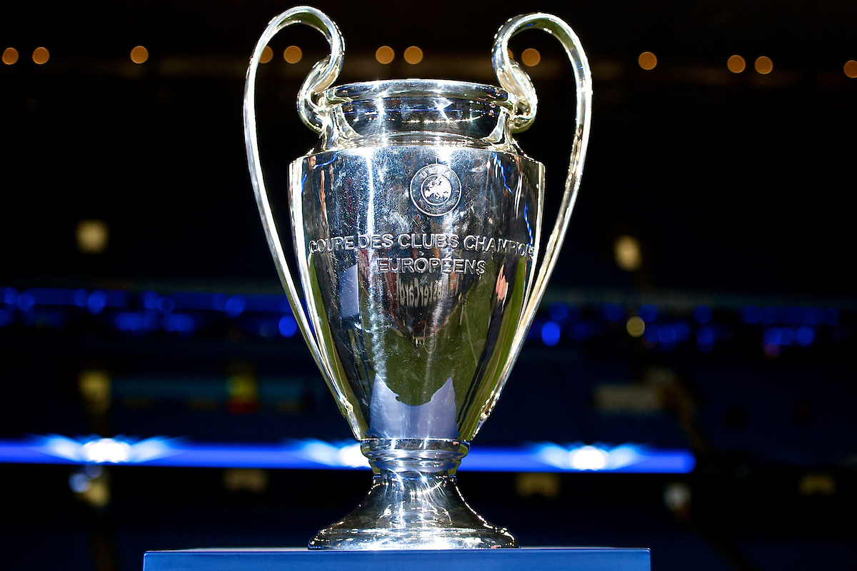 General view of the Champions League trophy on display pictured ahead of the UEFA Champions League match at the Etihad Stadium, Manchester Picture by Ian Wadkins/Focus Images Ltd +44 7877 568959 24/02/2015
