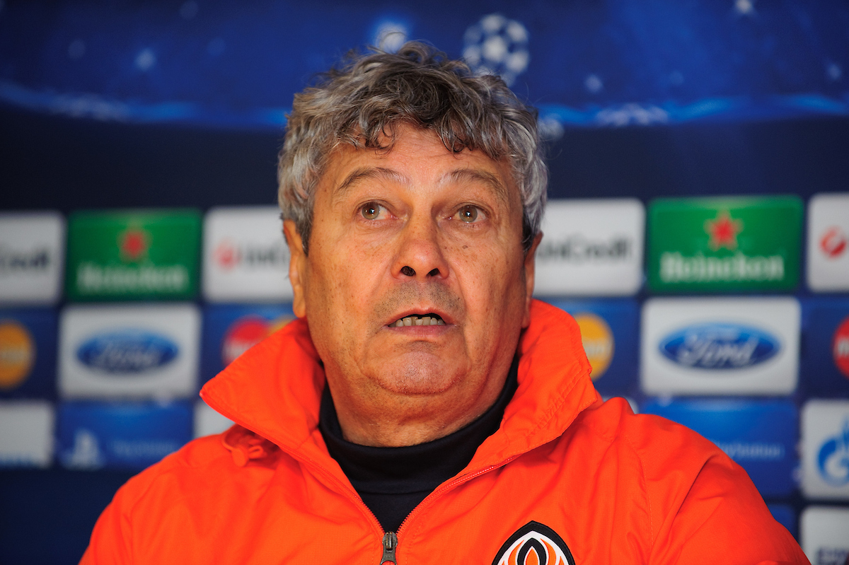 Picture by Gerald O'Rourke/Focus Images Ltd +44 7500 165179.06/11/2012.Mircea Lucescu manager of Shakhtar Donetsk picture during a press conference at Stamford Bridge, London.