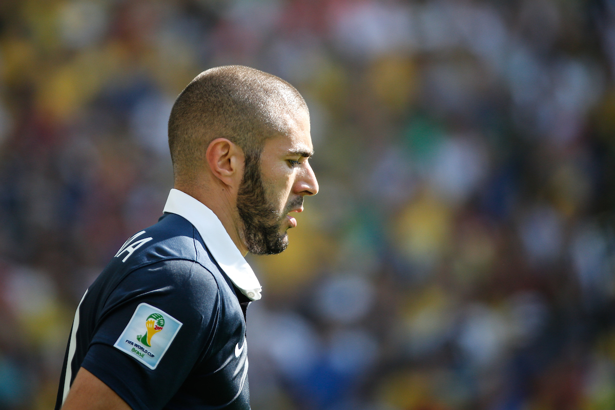 Karim Benzema of France looks on during the 2014 FIFA World Cup match between France and Germany at the Maracana Stadium, Rio de Janeiro Picture by Andrew Tobin/Focus Images Ltd +44 7710 761829 04/07/2014