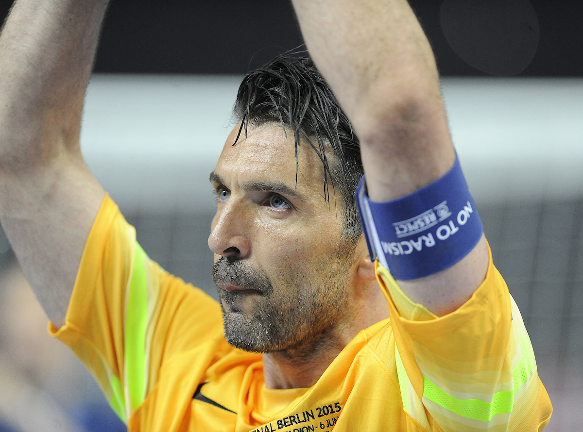 Gianluigi Buffon of Juventus following the UEFA Champions League final at Olympiastadion Berlin, Charlottenburg-Wilmersdo Picture by Stefano Gnech/Focus Images Ltd +39 333 1641678 06/06/2015