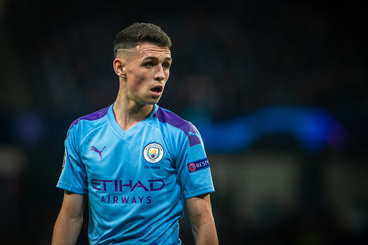 Phil Foden of Manchester City during the UEFA Champions League match at the Etihad Stadium, Manchester Picture by Matt Wilkinson/Focus Images Ltd 07814 960751 22/10/2019