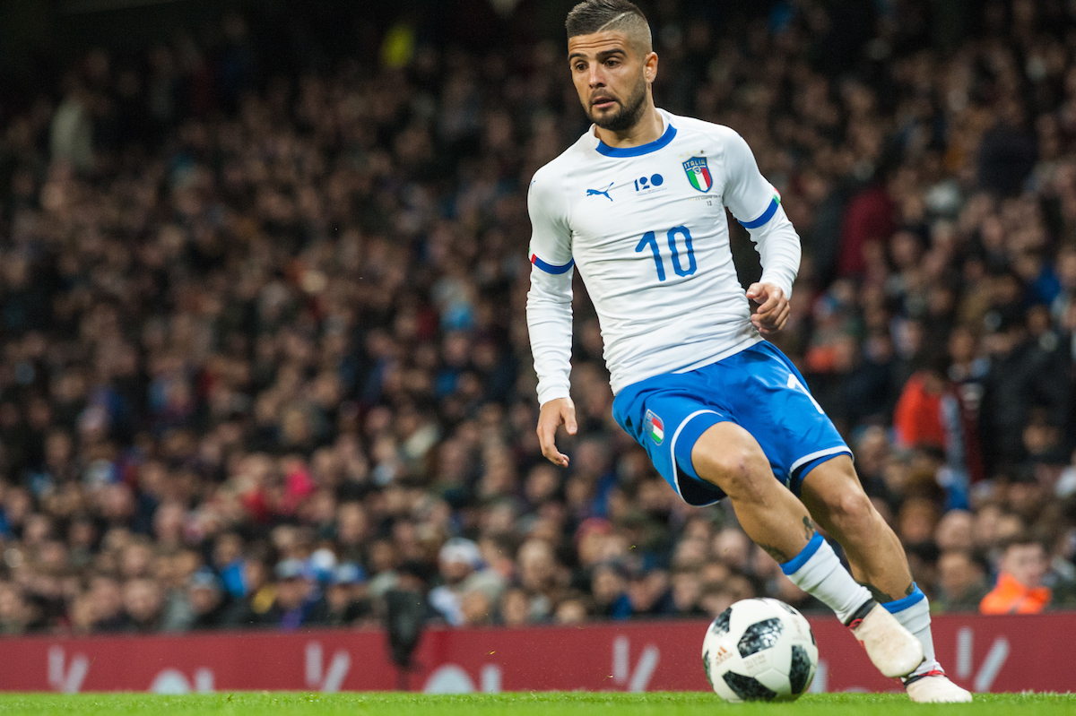 Lorenzo Insigne of Italy during the International Friendly match at the Etihad Stadium, Manchester Picture by Matt Wilkinson/Focus Images Ltd 07814 960751 23/03/2018