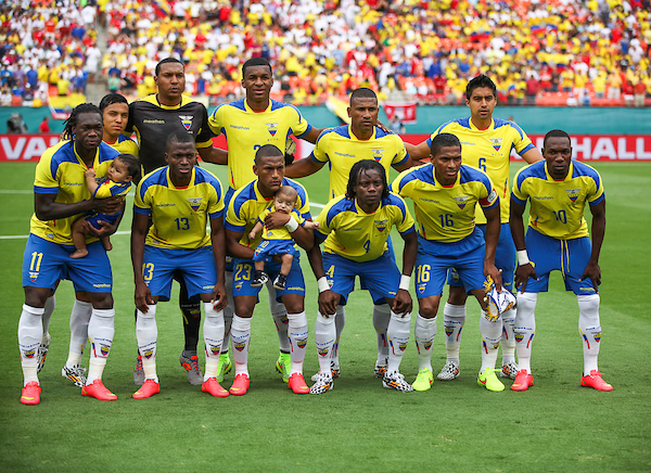 Team Lineup of Ecuador during the International Friendly match at Sun Life Stadium, Miami Gardens Picture by Adam Kiefer/Focus Images Ltd +1 407 558 3756 04/06/2014