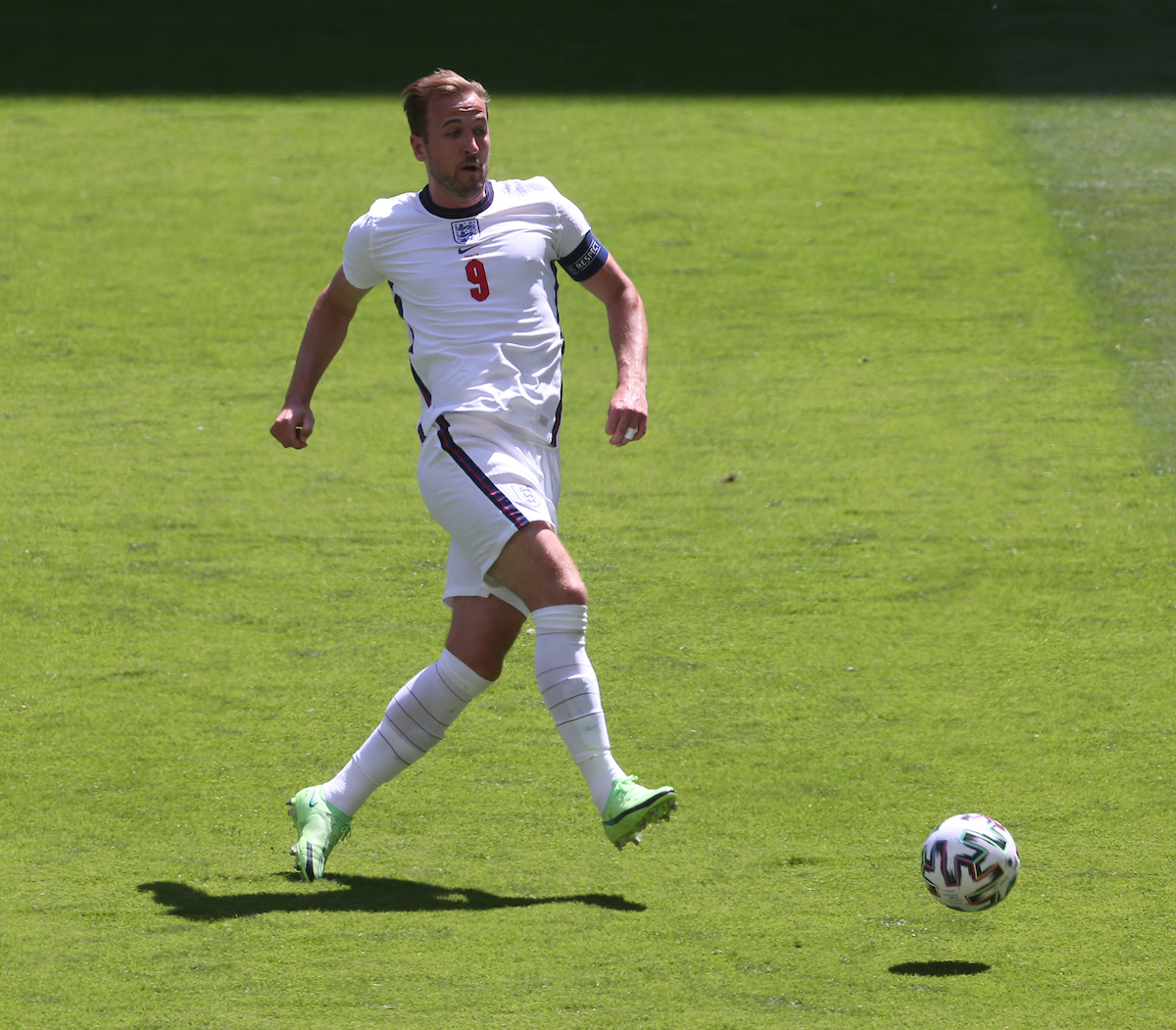 Harry Kane of England during the UEFA Euro 2020 Group D match at Wembley Stadium, London Picture by Paul Chesterton/Focus Images Ltd +44 7904 640267 13/06/2021