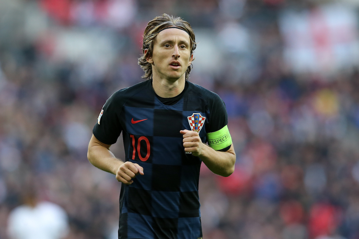 Luka Modric of Croatia during the UEFA Nations League match at Wembley Stadium, London Picture by James Wilson/Focus Images Ltd 07522 978714 18/11/2018