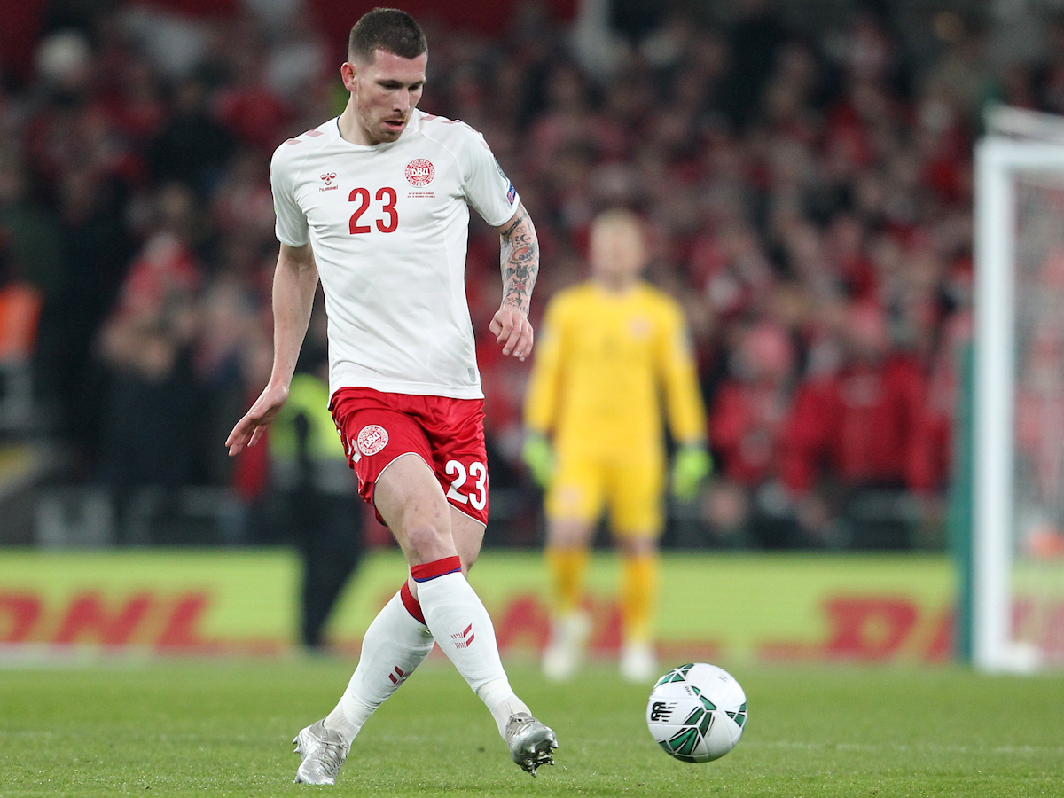 Pierre Emile Hojbjerg of Denmark during the UEFA Euro 2020  Qualifiers match at the Aviva Stadium, Dublin Picture by Yannis Halas/Focus Images Ltd +353 8725 82019 18/11/2019