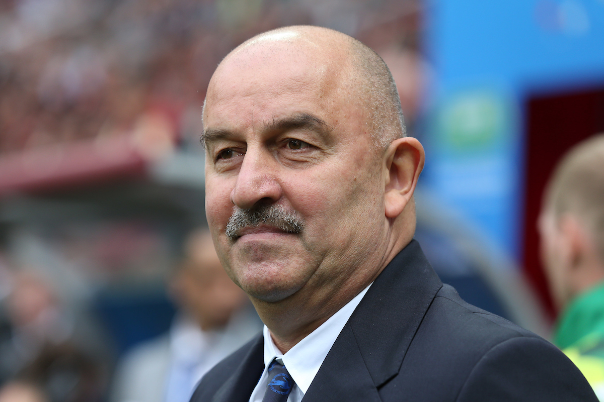 Russia Manager Stanislav Cherchesov before the opening match of the 2018 FIFA World Cup at Luzhniki Stadium, Moscow Picture by Paul Chesterton/Focus Images Ltd +44 7904 640267 14/06/2018