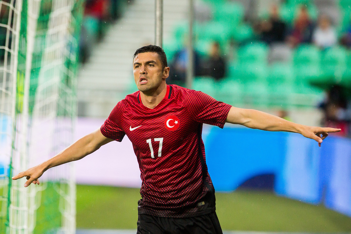 Burak Yilmaz of Turkey during the International Friendly match at SRC Stozice, Ljubljana Picture by EXPA Pictures/Focus Images Ltd 07814482222 05/06/2016 ***UK & IRELAND ONLY*** EXPA-SLO-160606-0142.jpg