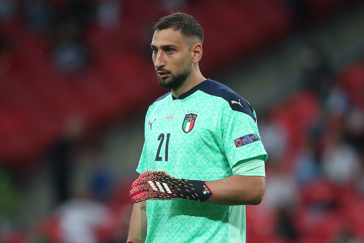 Gianluigi Donnarumma of Italy during the UEFA Euro 2020 last 16 match at Wembley Stadium, London Picture by Paul Chesterton/Focus Images Ltd +44 7904 640267 26/06/2021