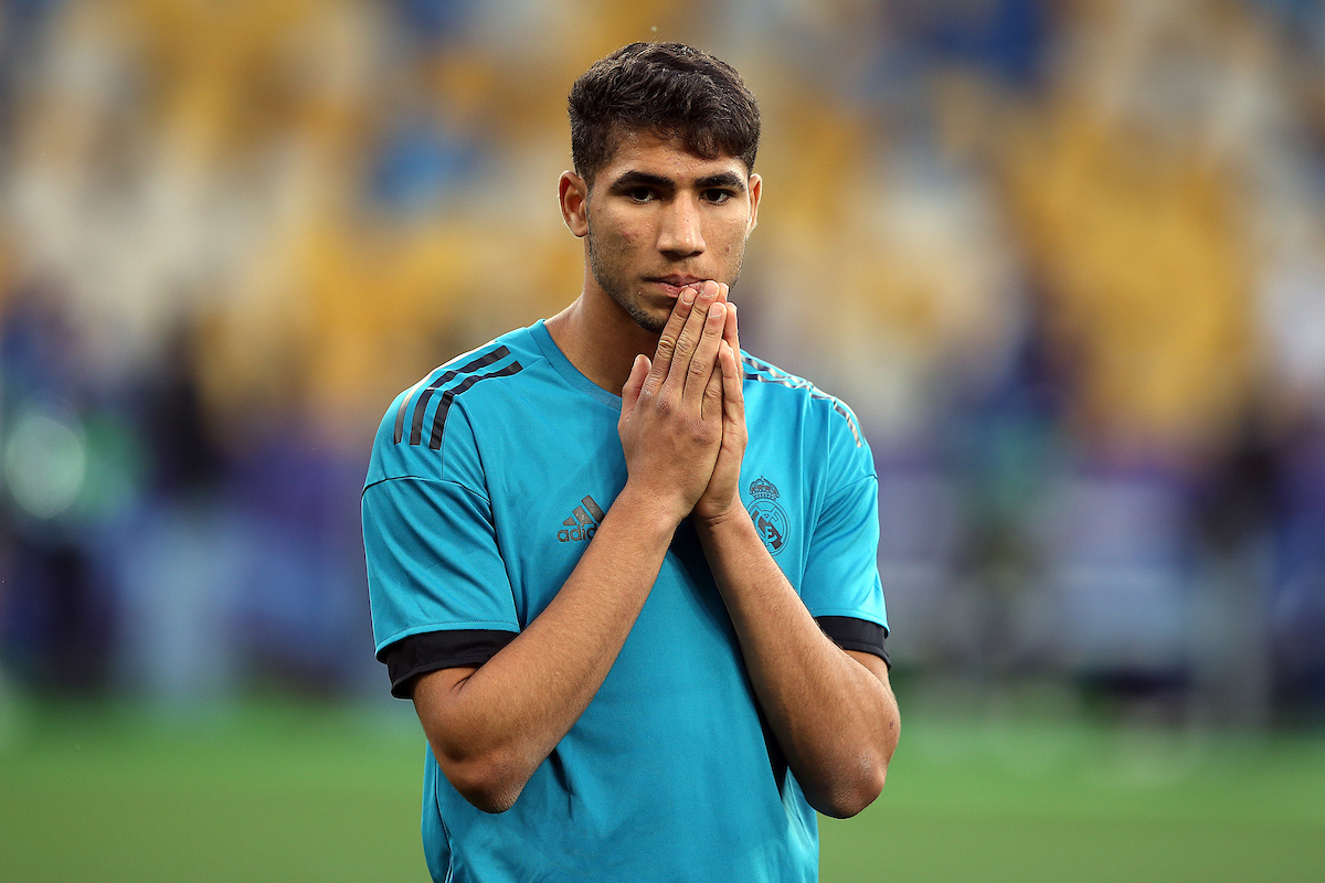 Achraf Hakimi of Real Madrid during the Real Madrid training session at the Olympic Stadium, Kiev Picture by Paul Chesterton/Focus Images Ltd +44 7904 640267 25/05/2018