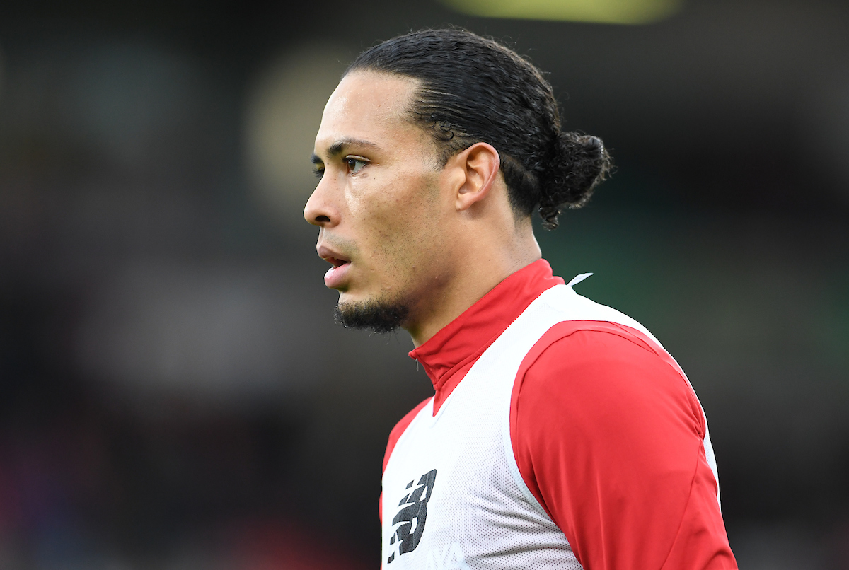 Virgil van Dijk of Liverpool during the warm up before the Premier League match at the Vitality Stadium, Bournemouth Picture by Jeremy Landey/Focus Images Ltd 07747773987 07/12/2019