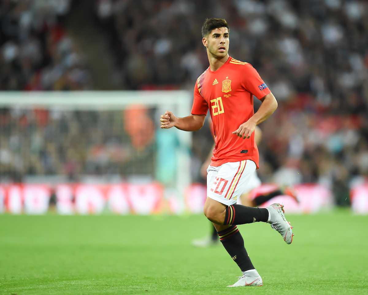 Marco Asensio of Spain during the UEFA Nations League match at Wembley Stadium, London Picture by Martyn Haworth/Focus Images Ltd 07463250714 08/09/2018