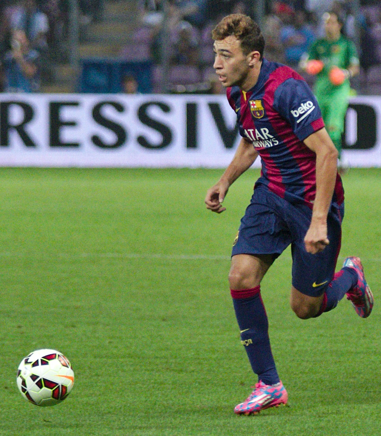 "Munir Barcelona ""Barça - Napoli - 20140806 - 27 - Munir el Haddadi cropped 1"" by Clément Bucco-Lechat - Own work. Licensed under Creative Commons Attribution-Share Alike 3.0 via Wikimedia Commons - http://commons.wikimedia.org/wiki/File:Bar%C3%A7a_-_Napoli_-_20140806_-_27_-_Munir_el_Haddadi_cropped_1.jpg#mediaviewer/File:Bar%C3%A7a_-_Napoli_-_20140806_-_27_-_Munir_el_Haddadi_cropped_1.jpg"