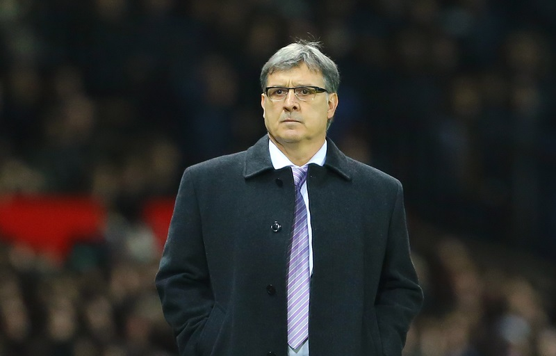 Manager of Argentina, Gerardo Martino during the International Friendly match against Portugal at Old Trafford, Manchester Picture by Richard Calver/Focus Images Ltd +447792 981244 18/11/2014