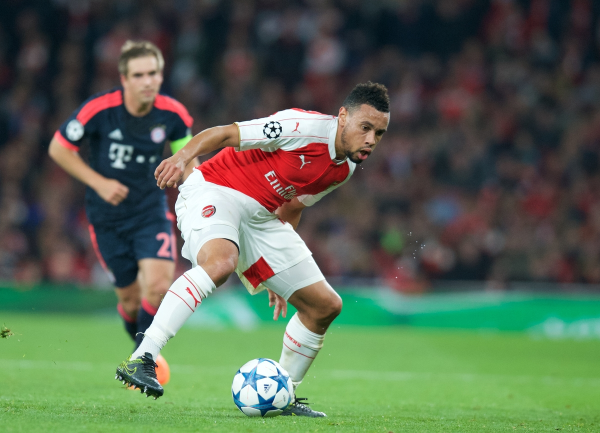 Francis Coquelin of Arsenal during the UEFA Champions League match at the Emirates Stadium, London Picture by Alan Stanford/Focus Images Ltd +44 7915 056117 20/10/2015