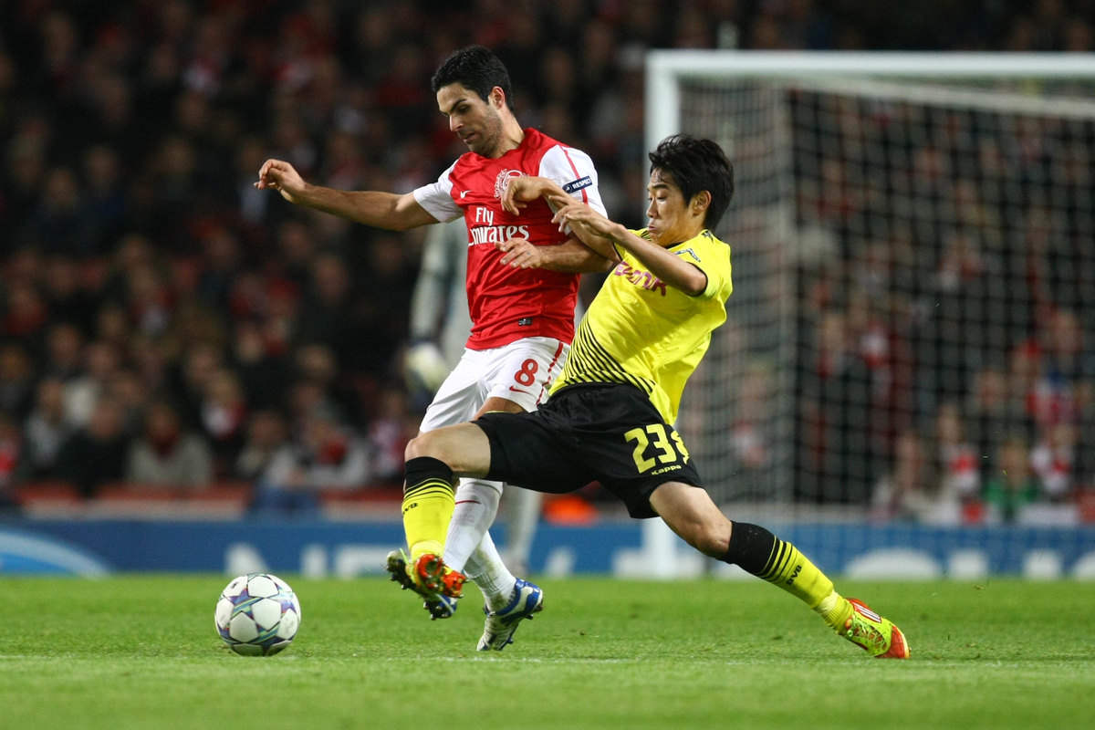 Arsenal v Borussia Dortmund.UEFA Champions League Group F
