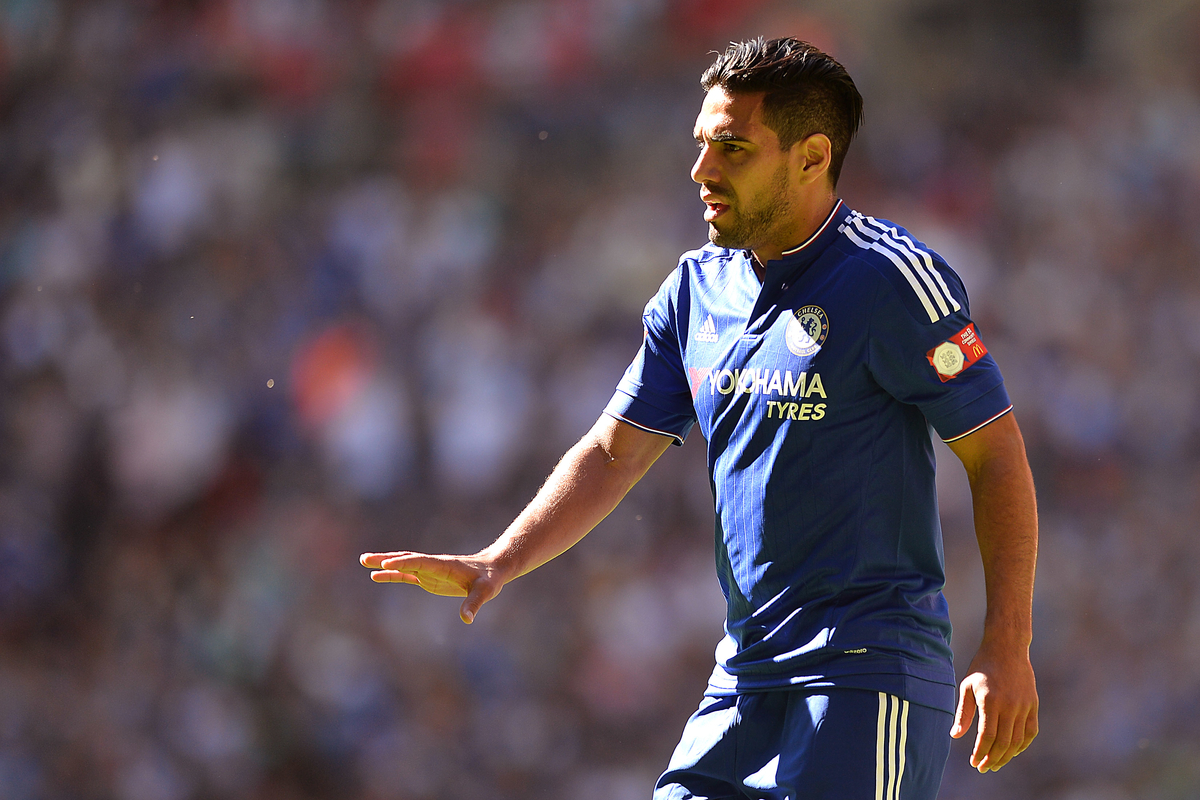 Radamel Falcao of Chelsea during the FA Community Shield match between Arsenal and Chelsea at Wembley Stadium, London Picture by Richard Blaxall/Focus Images Ltd +44 7853 364624 02/08/2015