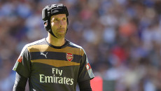 Petr Cech of Arsenal during the FA Community Shield match between Arsenal and Chelsea at Wembley Stadium, London Picture by Richard Blaxall/Focus Images Ltd +44 7853 364624 02/08/2015