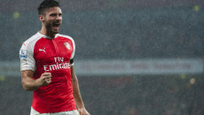 Oliver Giroud of Arsenal opens the scoring during the Barclays Premier League match at the Emirates Stadium, London Picture by Jack Megaw/Focus Images Ltd +44 7481 764811 24/10/2015
